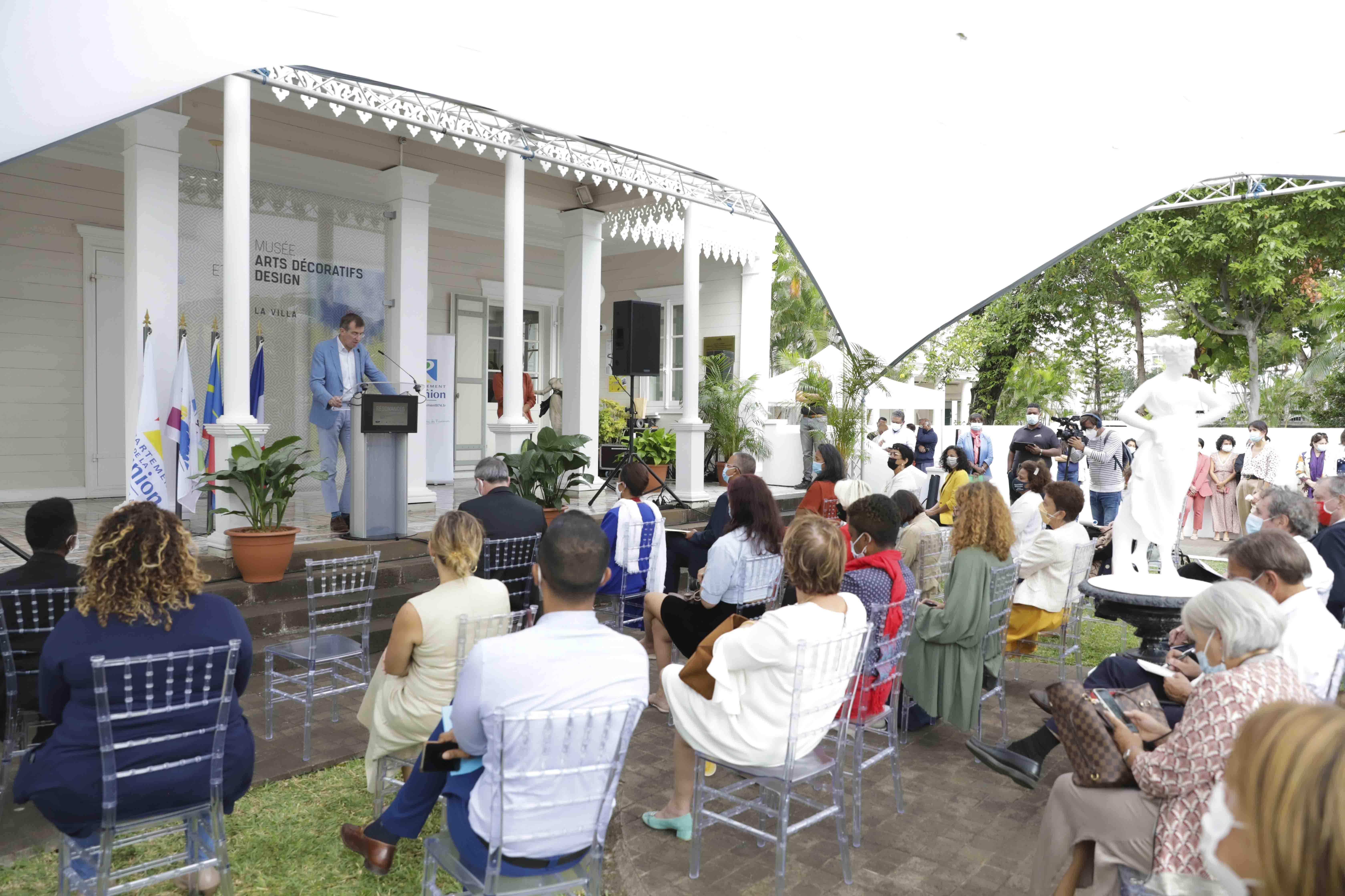 """Inauguration de l'exposition """"Résonances - Le Louvre à La Réunion"""" à la Villa (Saint-Denis)"""
