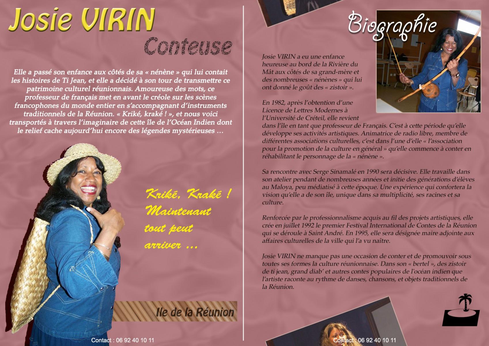 Biographie de Josie Virin